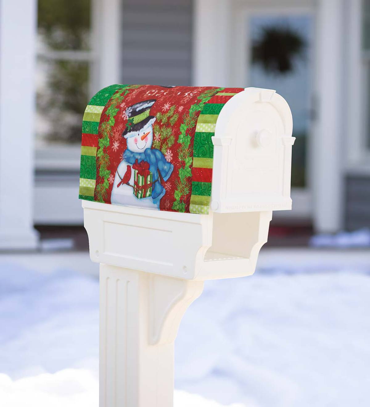 Holiday Snowman Magnetic Mailbox Cover