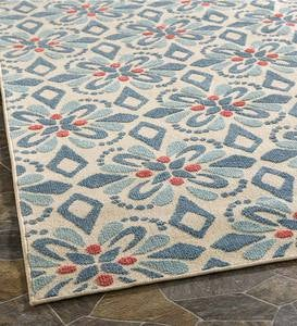 Indoor/Outdoor Clearwater Print Rug, 8' x 10' - Blue