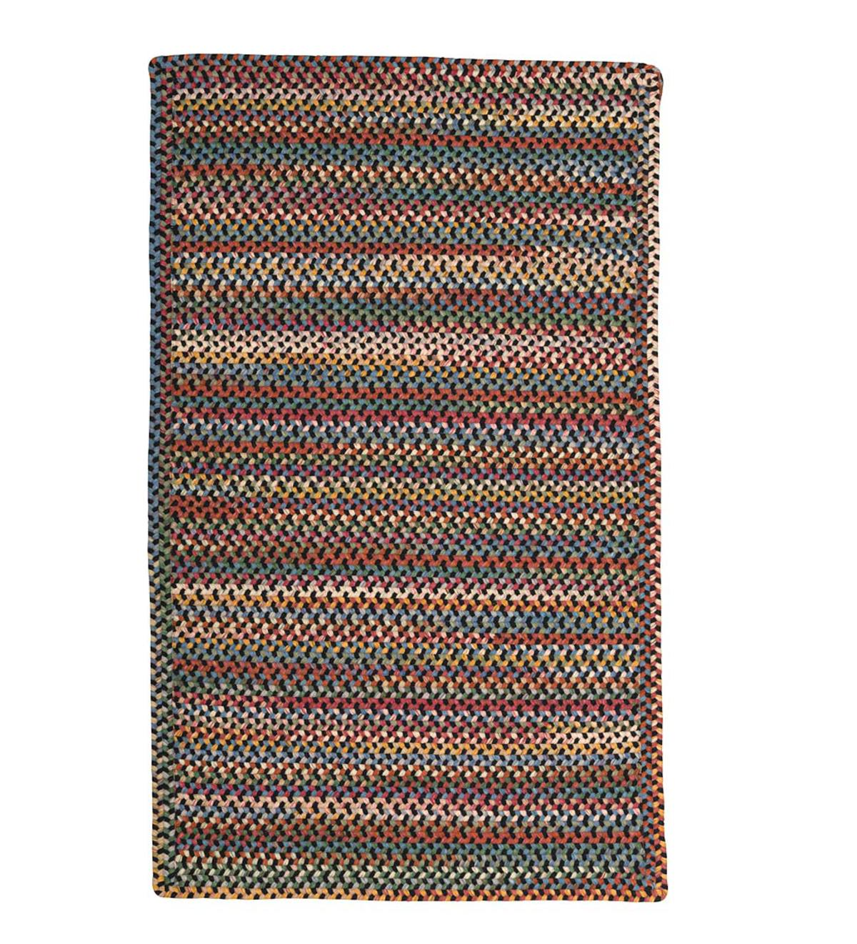Blue Ridge Rectangle Wool Braided Rug 8 X 11 Hearth
