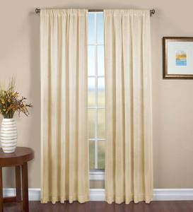 Sheer Linen Panel with Rod Pocket