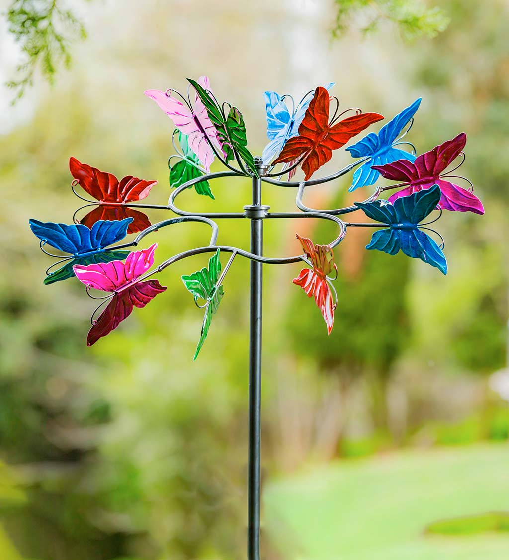Colorful Butterfly Metal Wind Spinner