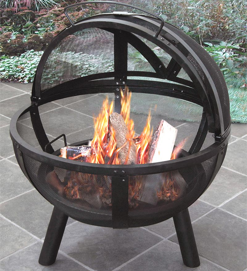 Wood-Burning Ball Of Fire Fire Pit