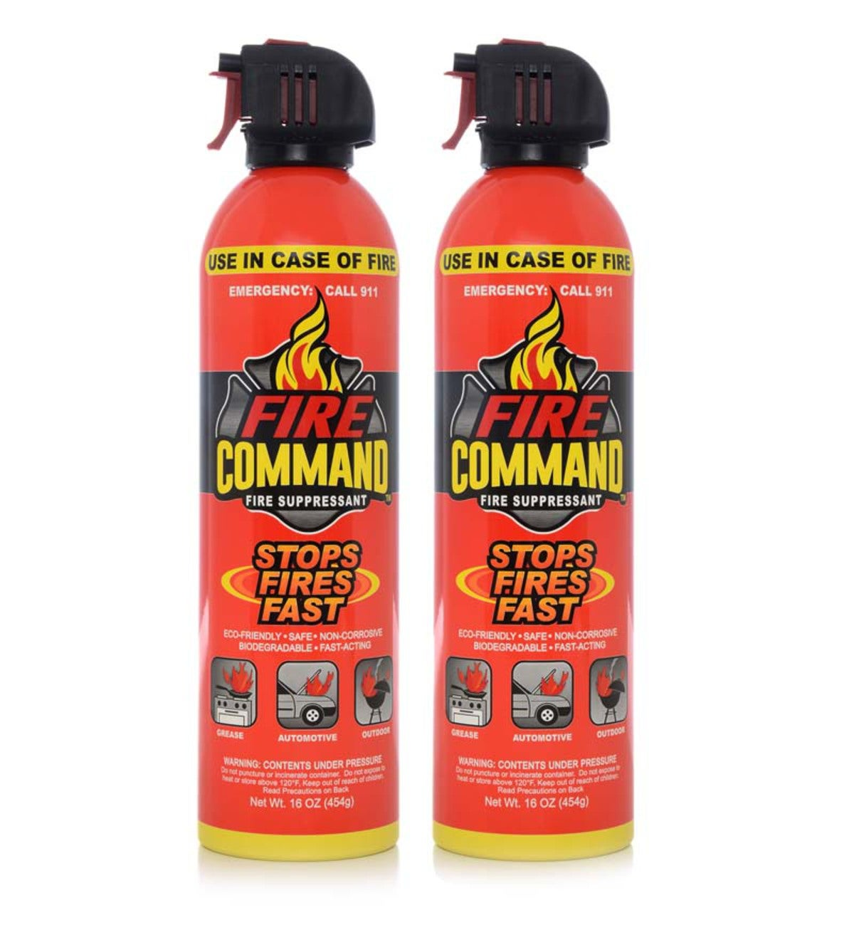 Fire Command™ Fire Suppressant Spray Can, 2-pack