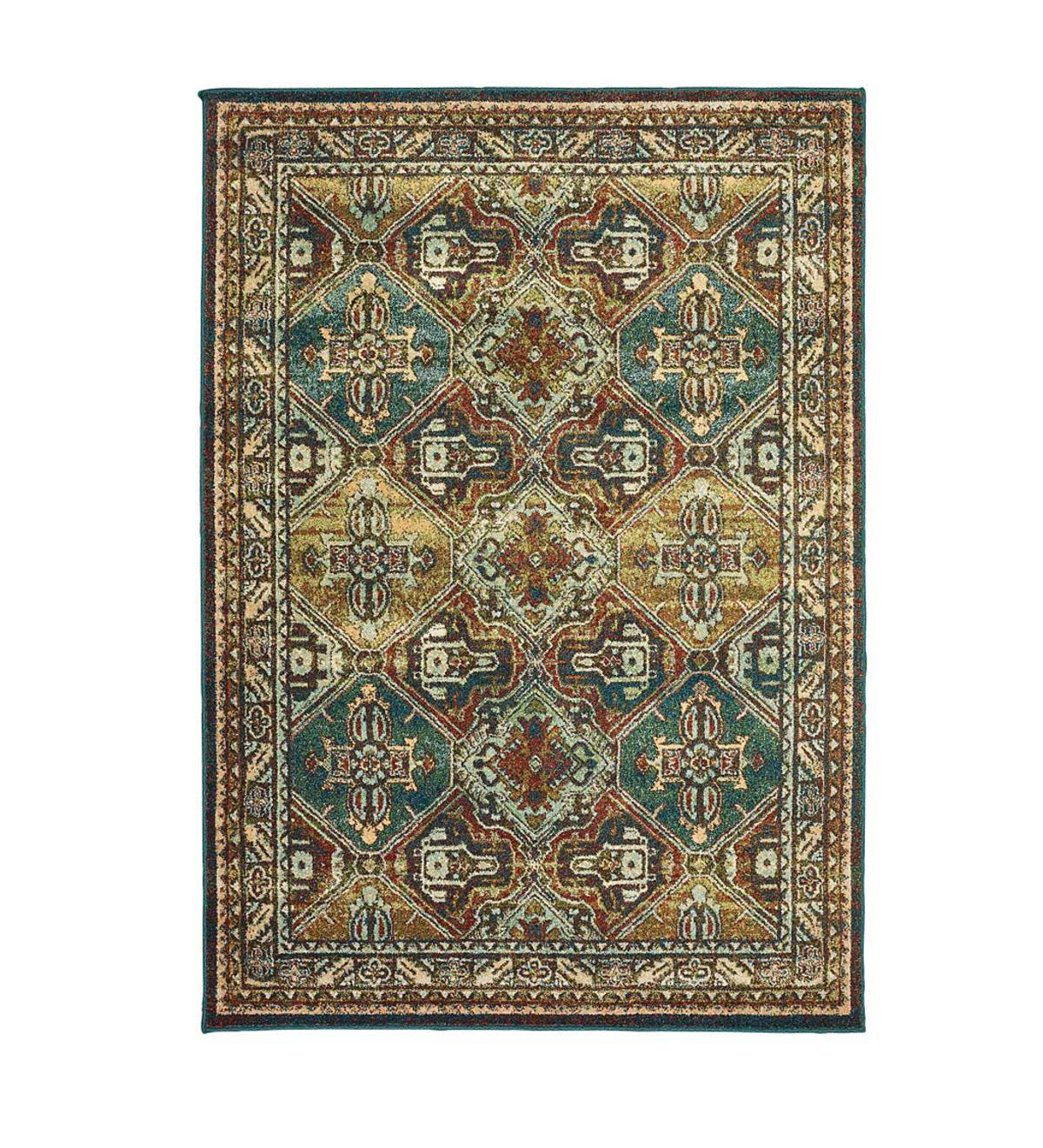 Daughton Teal Area Rugs, 8' x 11'