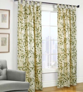 Thermologic™ Energy-Efficient Insulated Leaves Tab-Top Curtains