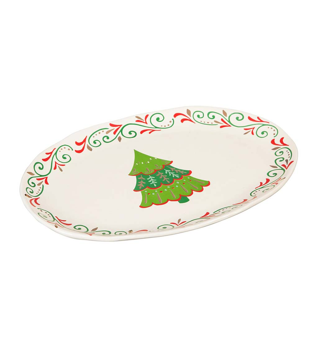 Christmas Traditions Ceramic Holiday Platter