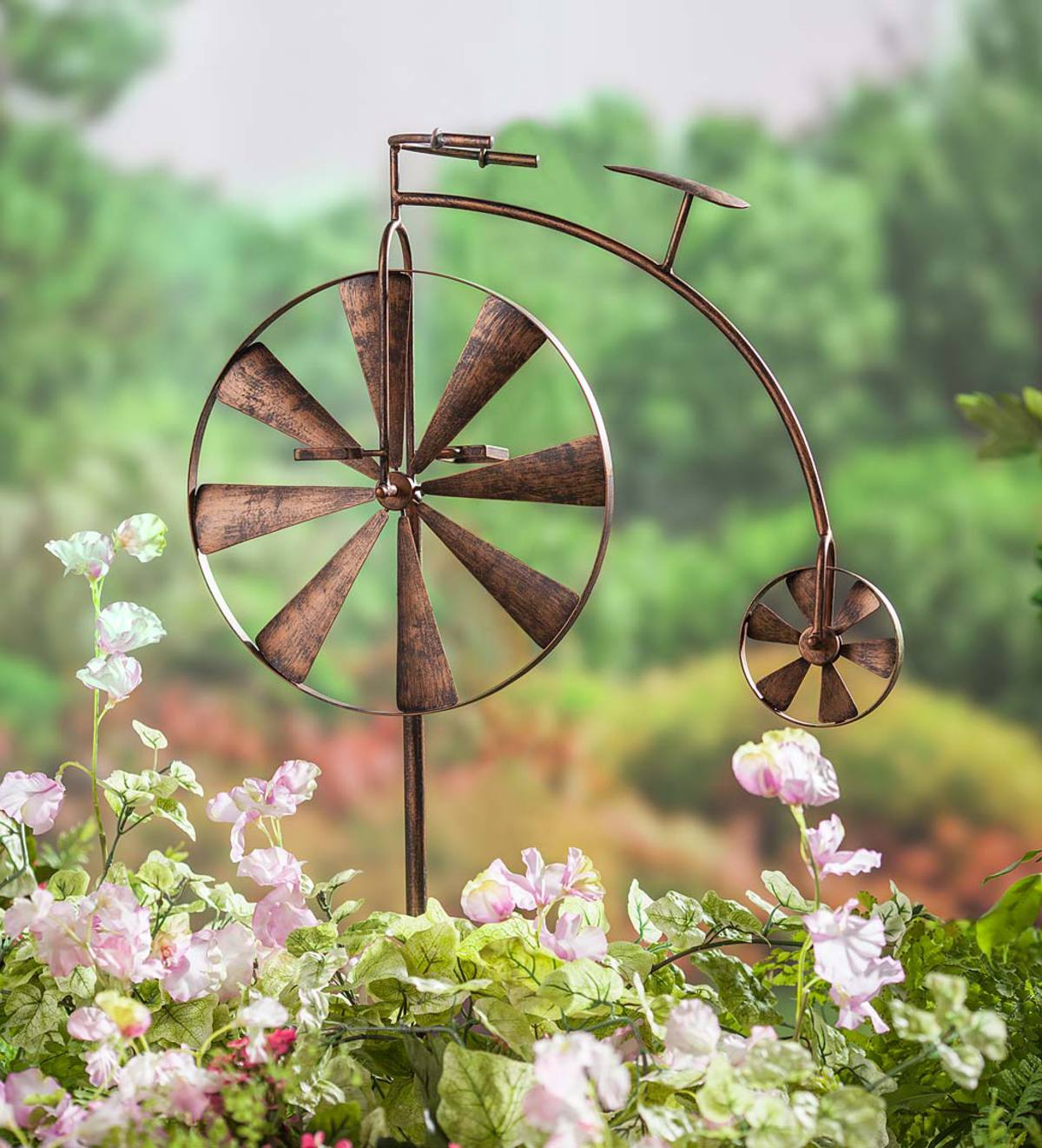 Antique Bike Metal Garden Spinner