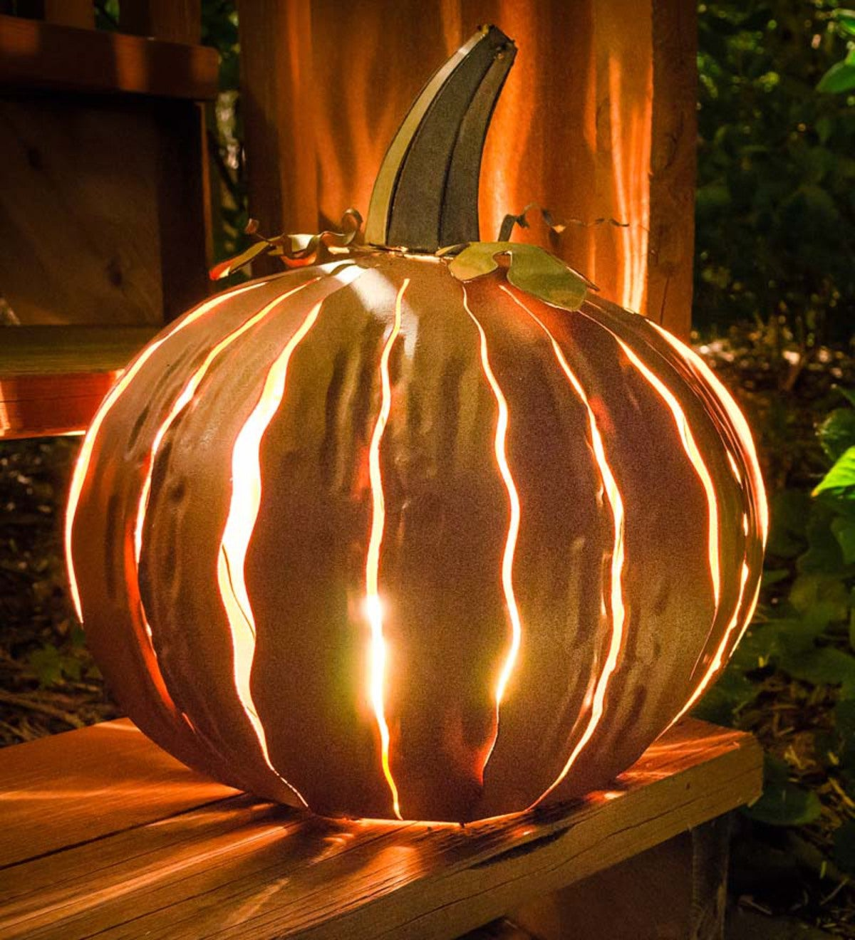Indoor/Outdoor Pumpkin Luminaries