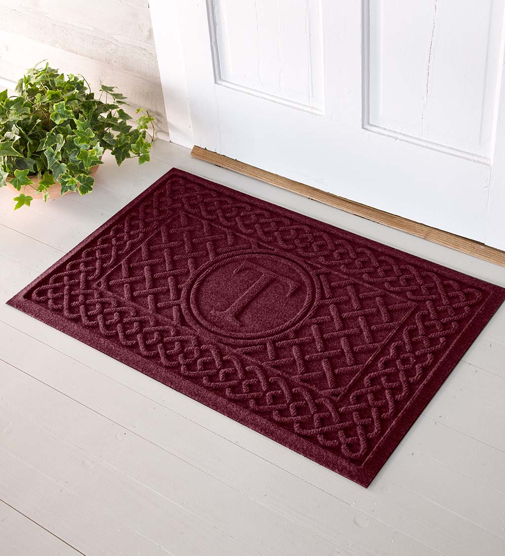Waterhog Cable Weave Doormat with Single Initial, 2' x 3'