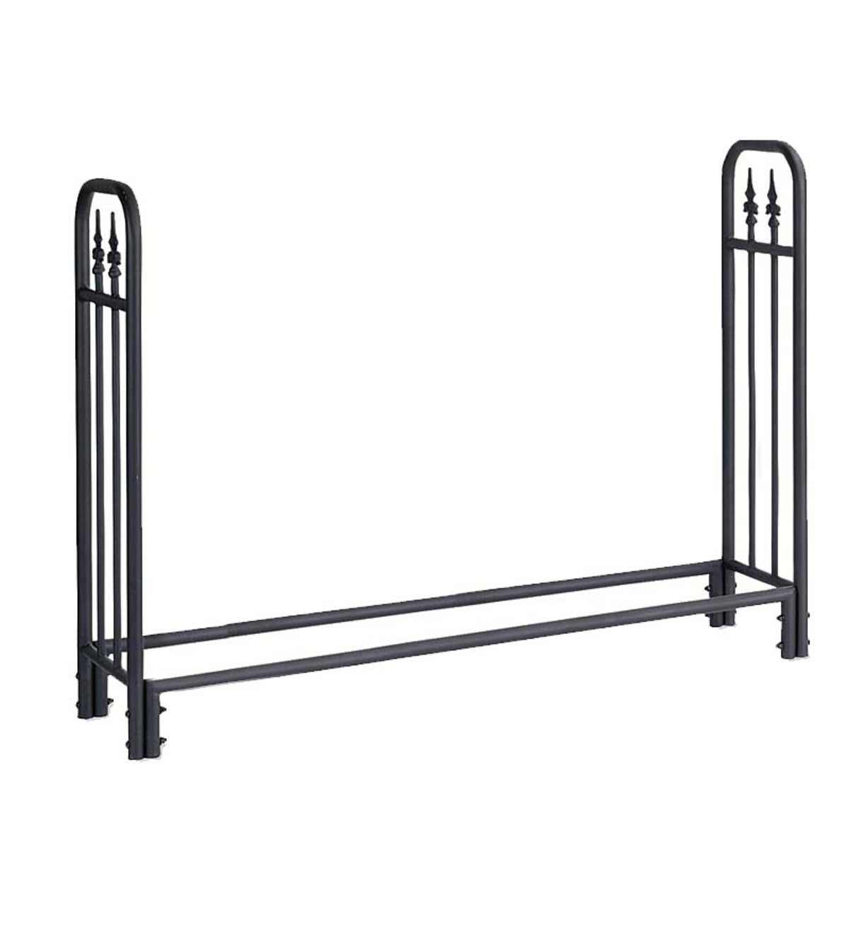 Large Heavy Duty Steel Wood Rack with Finial Design