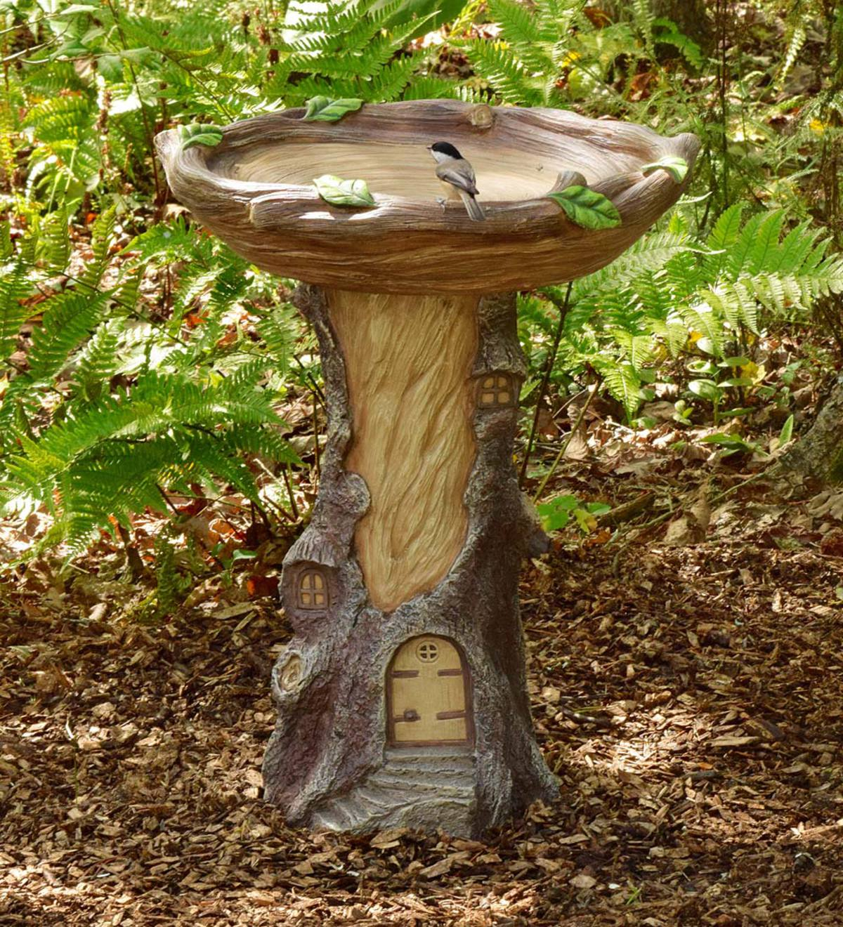 Full-Size Fairy Garden Birdbath | Birds and Nature | Yard & Garden ...