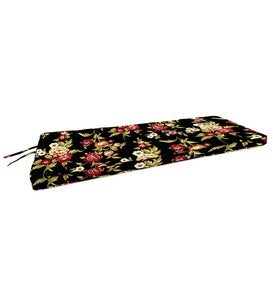 "Polyester Deluxe Swing/Bench Cushion With Ties, 44""x 18""x 2½"""
