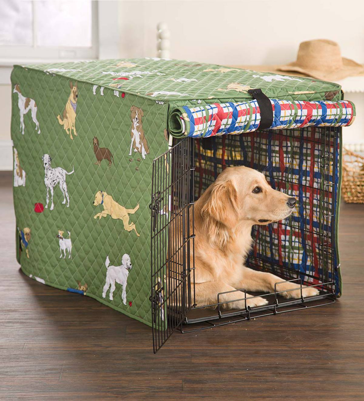 Bedtime Tails Dog Crate Cover, Medium