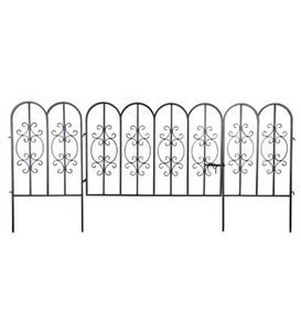 Montebello Iron Garden Fencing with Gate
