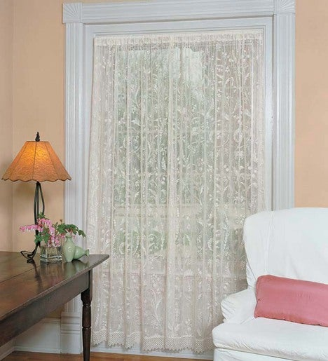 "45""x 63""Coventry Lace Panel With Trim"
