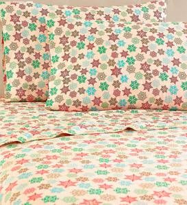 Snowflakes Micro Flannel Sheet Sets