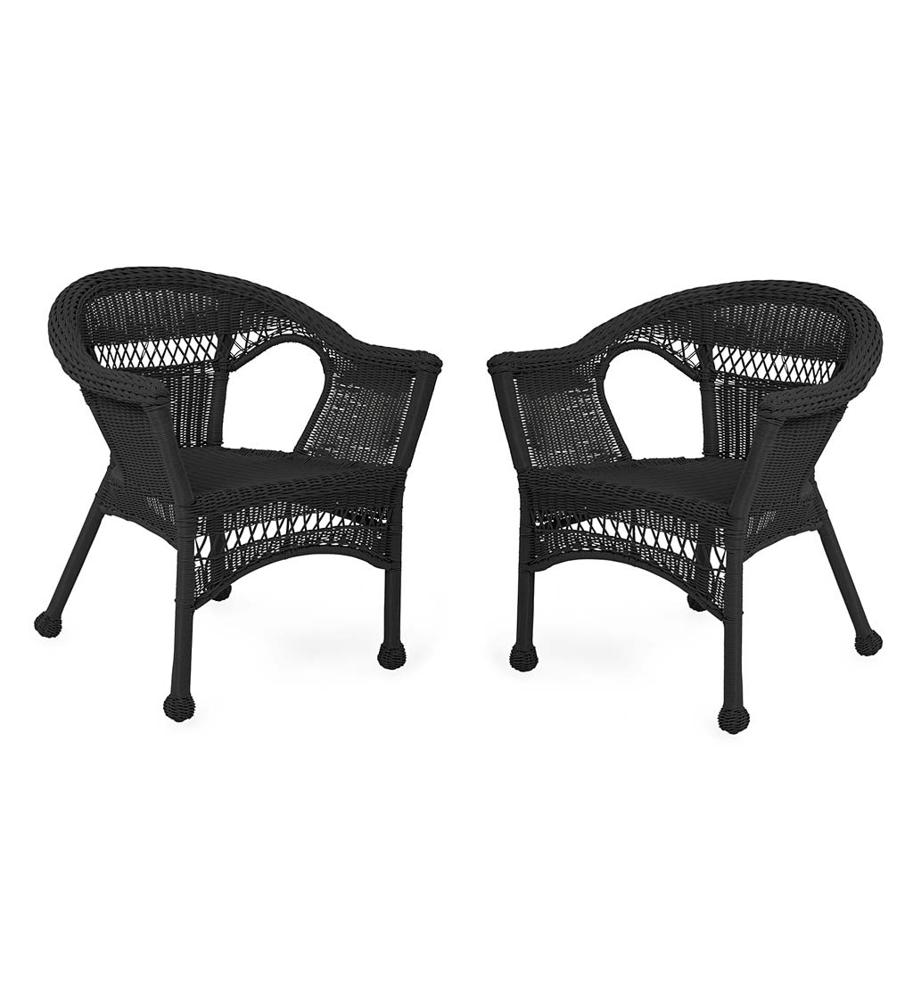 Easy Care Resin Wicker Chairs, Set of 2 swatch image