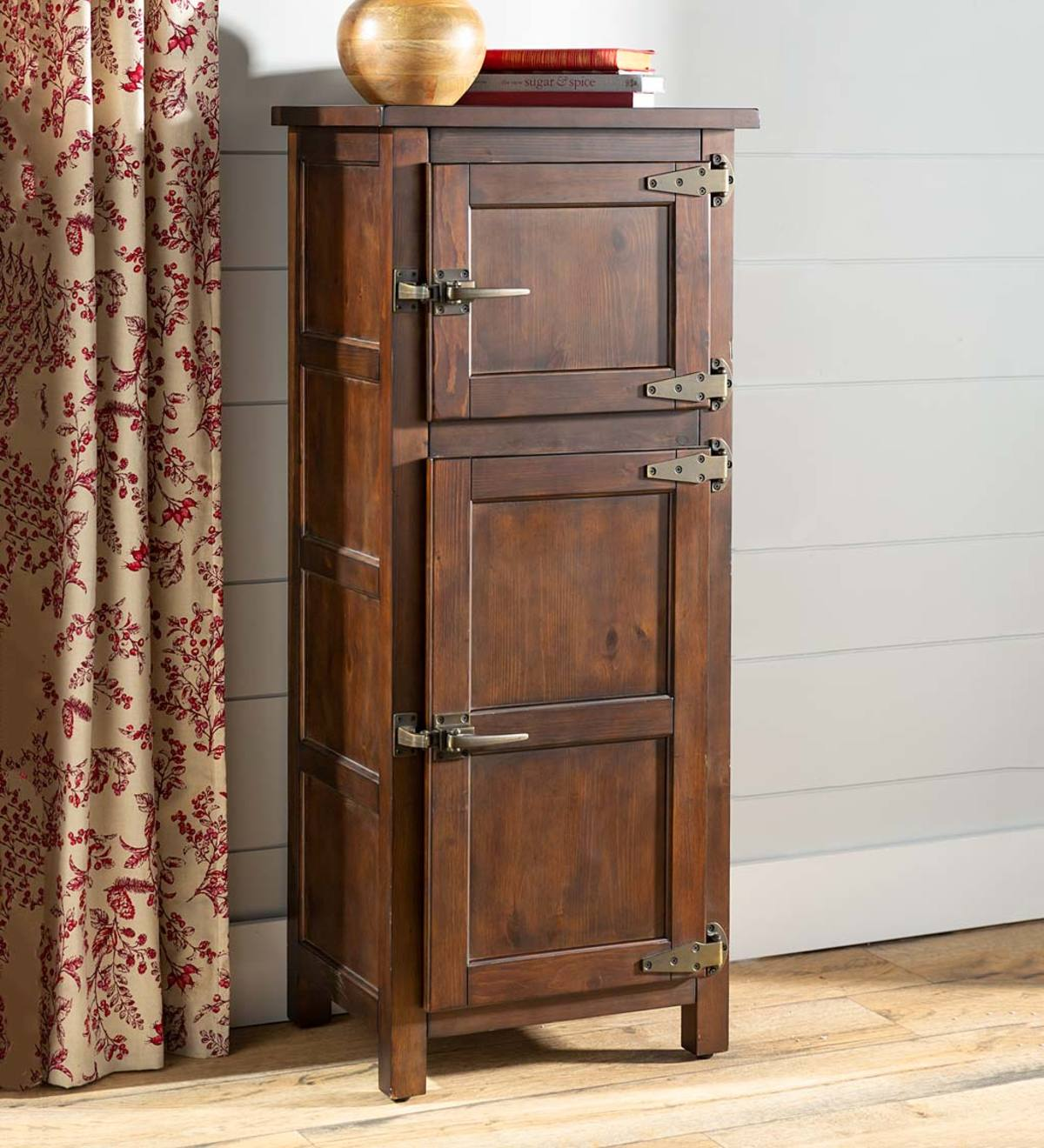 Portland Ice Box Wood Jelly Cabinet with Replica Hardware