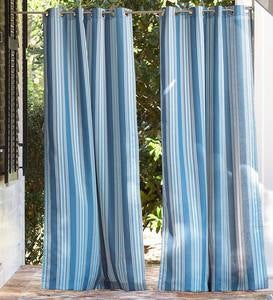 UV-Resistant Outdoor Grommet-Top Curtains
