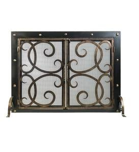 Othello Scrolled Fireplace Screen with Doors