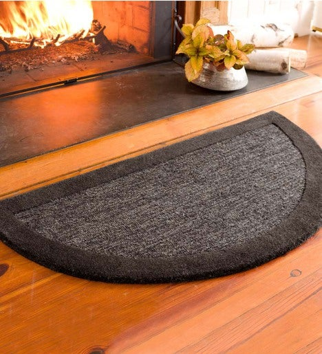 2' x 4' Madrid Banded Half-Round Hearth Rug