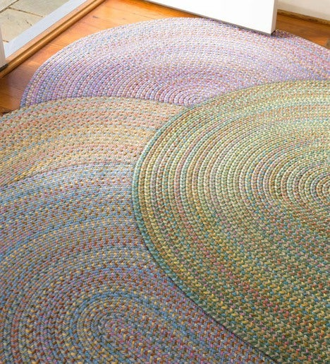 Floral Garden Oval Braided Rug, 7' x 9'