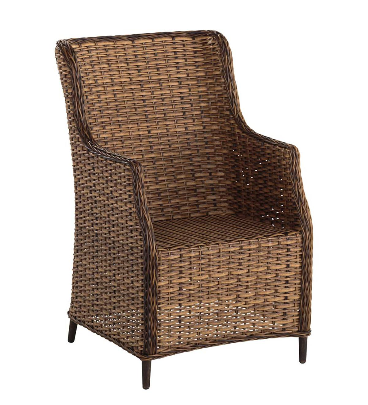Highland Wicker Outdoor Dining Chair