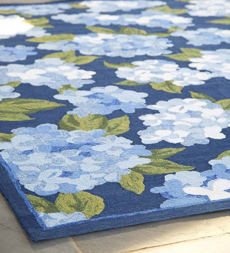 "Hydrangeas Indoor/Outdoor Rug, 3'5""x 5'5"""