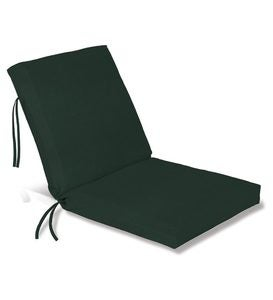 Polyester Classic Chair Cushion With Ties Seat 19 X 17 X 2 Back