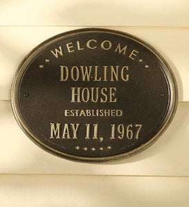 Personalized Oval House Sign