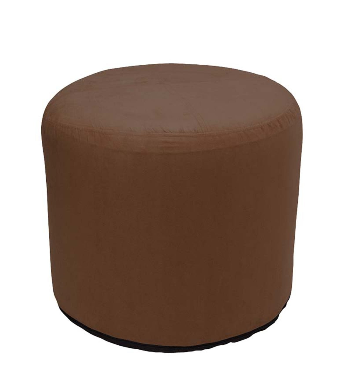 Large Round Inflatable Indoor Ottoman Pouf - Chocolate