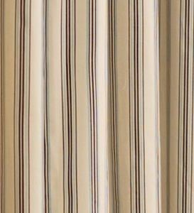 "84""L Thermalogic™ Insulated Double-Width Tab-Top Triple Stripe Curtain Pairs - Khaki Stripe"