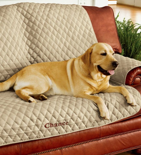 Personalized Polyester Pet Loveseat Protective Cover