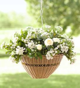 Easy Care Resin Wicker Hanging Basket