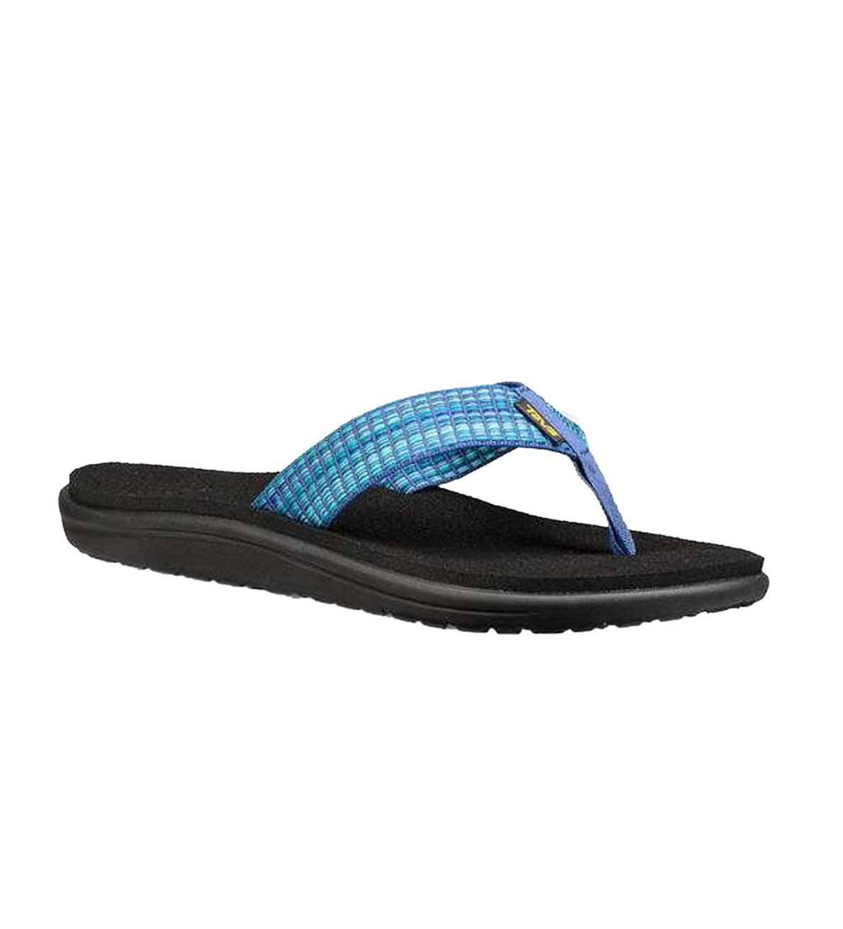 4c1c14d93fc86 Teva Women s Mush Voya Flip - Multi Blue - Size 6