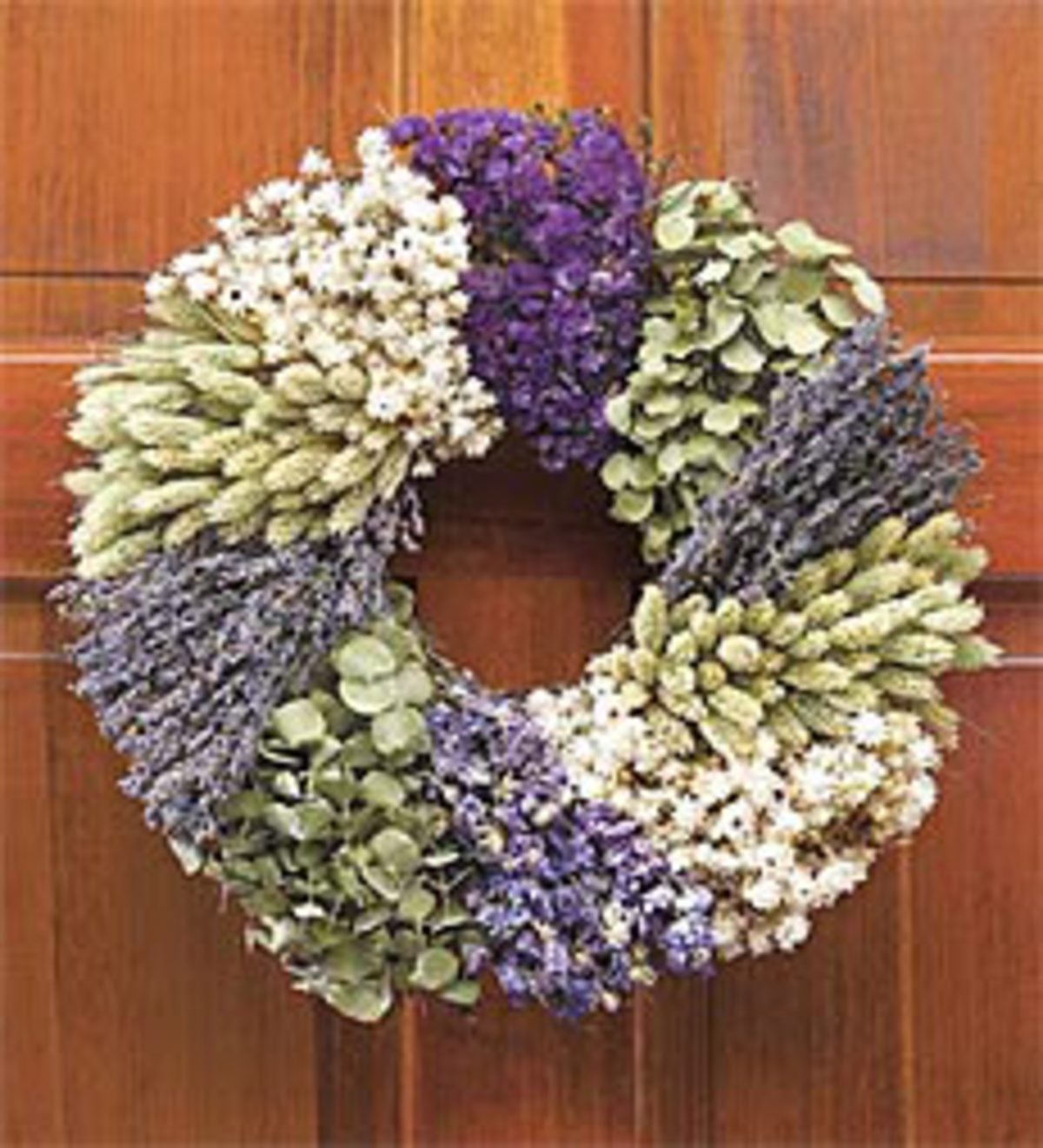 "Lavender Patchwork Wreath, 16""dia."