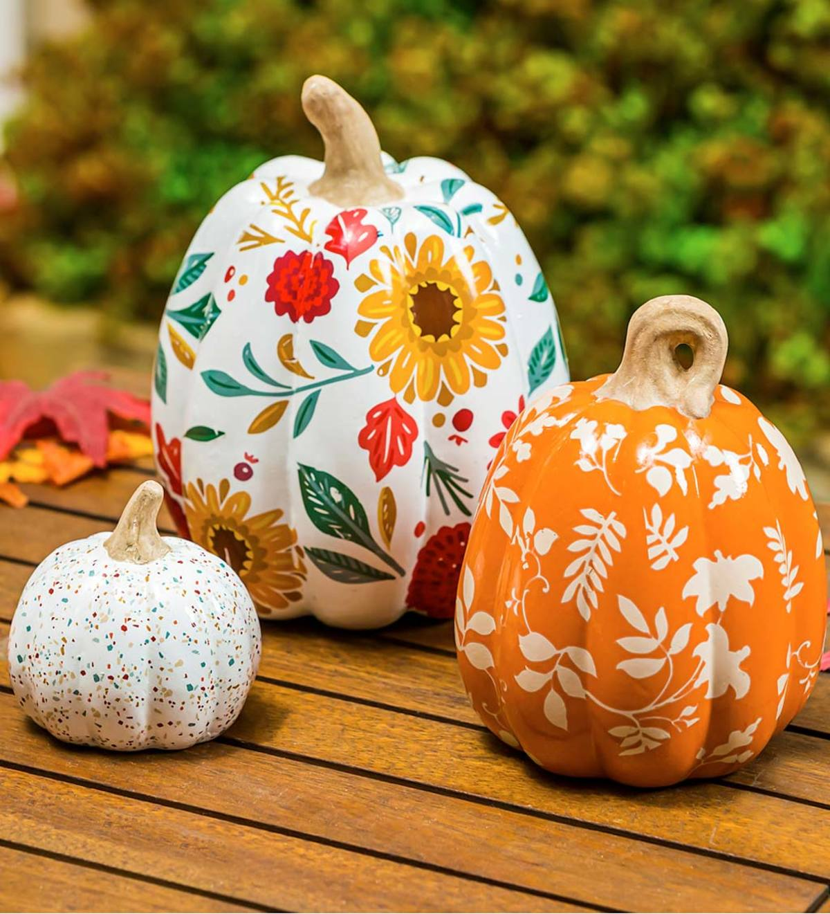Pllieay 3 Pieces 12 Inch Unfinished Wood Pumpkin Cutout for Fall Pumpkin D/écor Thanksgiving and Halloween Yard Decoration