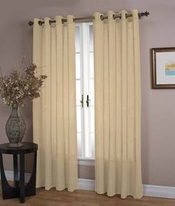 Lined Sheer Linen Panel with Grommets