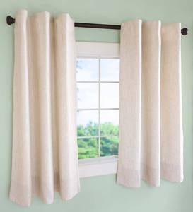"Insulated Short Curtain Panel with Rod Pocket, 40""W x 45""L - Moss Solid"