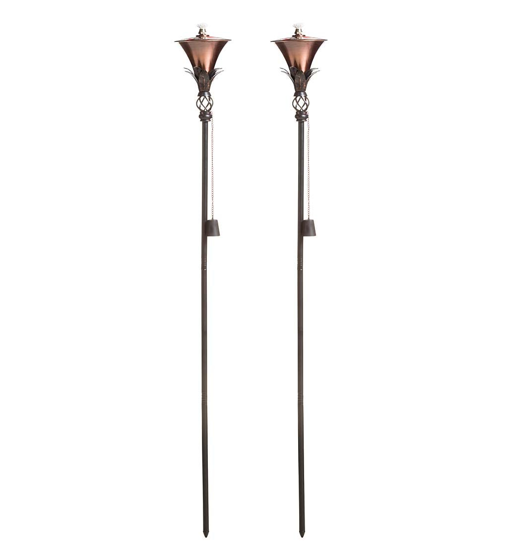 Steel Garden Torches, Set of 2 swatch image