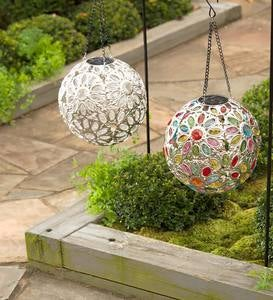 Hanging Solar Jewel Ball - Clear