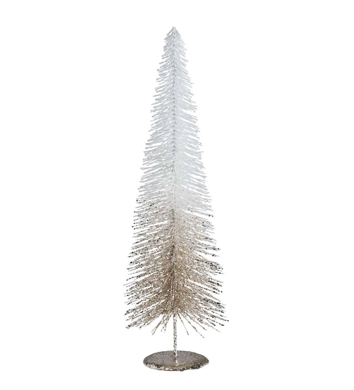 Large Glitter Christmas Tree   Indoor Holiday Decorations   Holiday ...