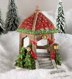 Miniature Fairy Garden Christmas Gazebo