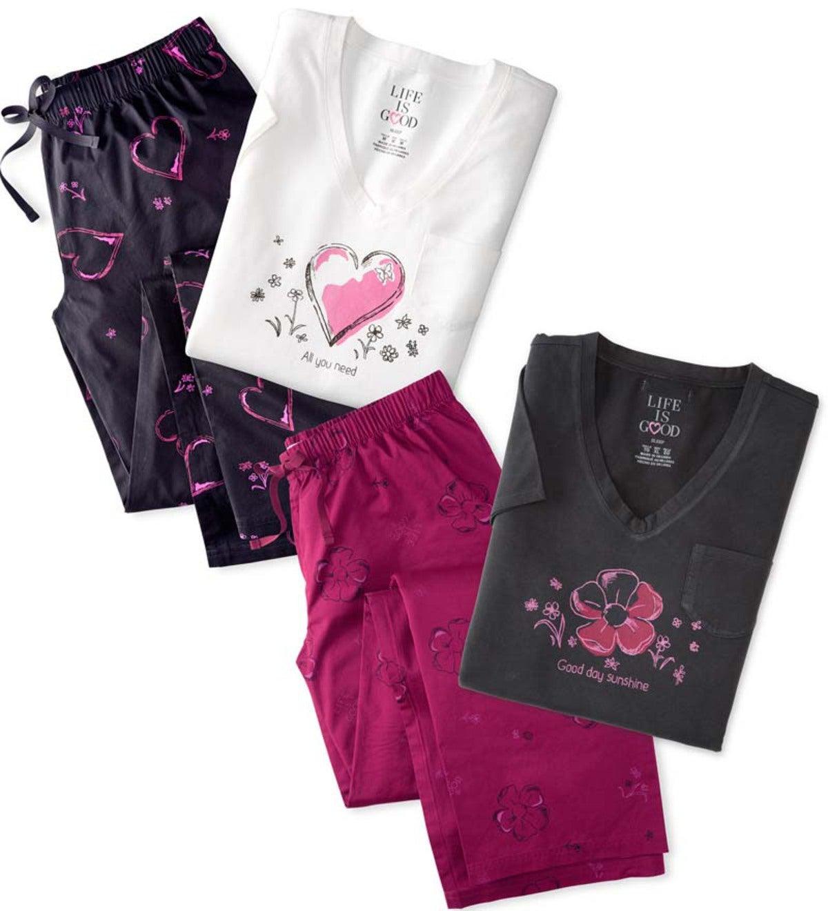 Life is good Women s Pajama Set  098a7bb81