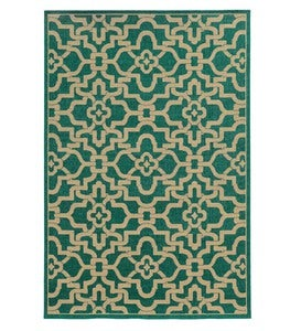 "2'3""x 7'6""Seaside Scrolled Area Runner - Coral"