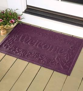 "Waterhog™ Welcome Doormat, 35""x 45"" - Dark Brown"
