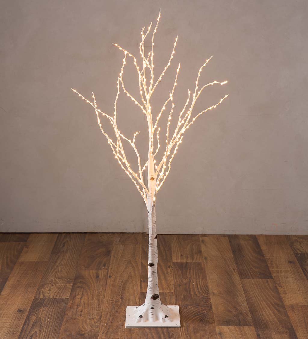 Small Indoor/Outdoor Birch Tree with 300 Warm White Lights