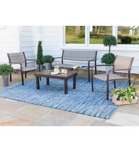 Williston Wicker and Aluminum Seating, 4-Piece Set