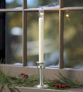 Traditional Adjustable Window Candle with Auto Timer