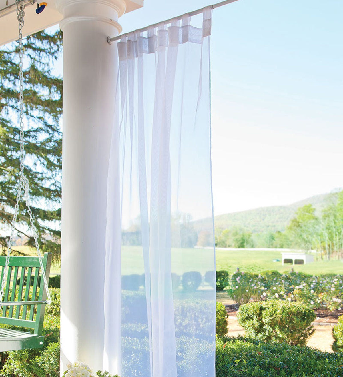 "54""x 96""L  Outdoor Tab Sheer Panel"